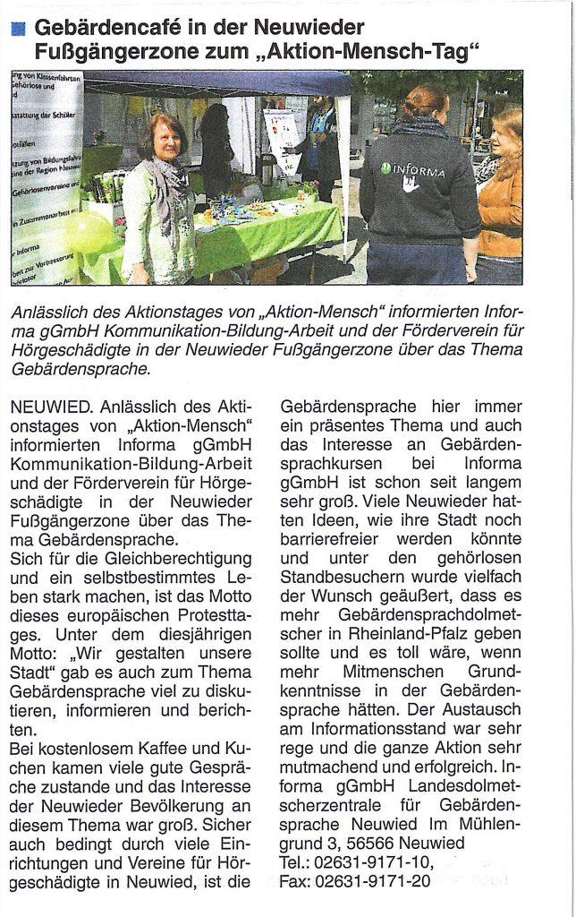 Gebärdencafe on Tour
