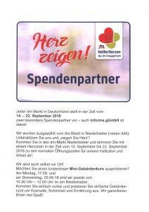 Wir sind DM-Spendenpartner
