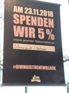 Giving Friday bei dm