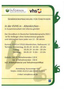 DGS I Kurs in Altenkirchen