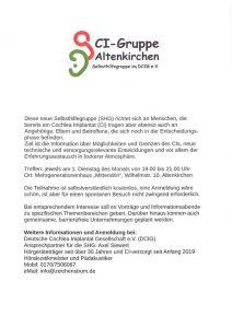 Neue CI - Gruppe in Altenkirchen