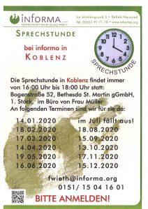 Sprechstunde in Koblenz