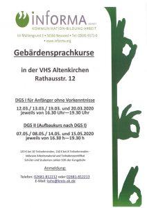 Gebärdensprachkurse in Altenkirchen