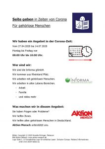 Angebot für hörgeschädigte Menschen in Deutschland